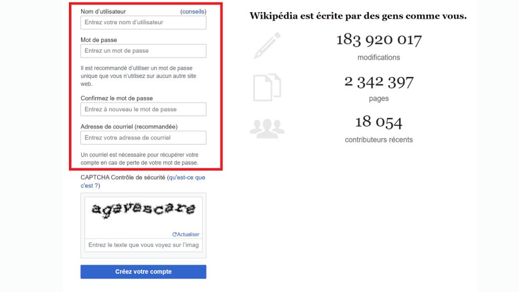 Comment créer un compte utilisateur sur Wikipédia guie créz votre compte ReputationUP