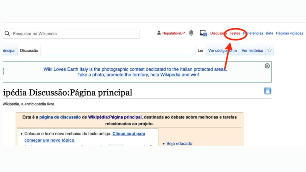 Como criar conteúdo na Wikipédia guia testes ReputationUP