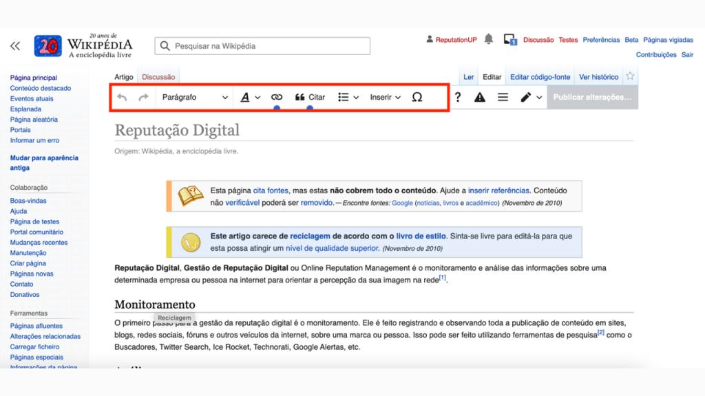 Como editar uma página da Wikipédia guia editar ReputationUP