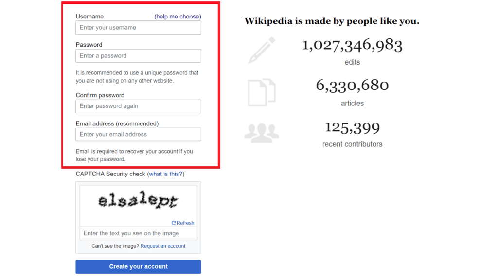 How to create a user page on Wikipedia guie create account ReputationUP