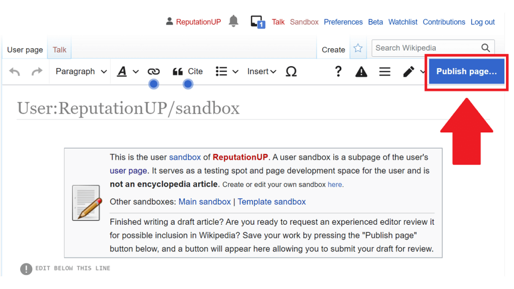 How to create content on Wikipedia guie ReputationUP