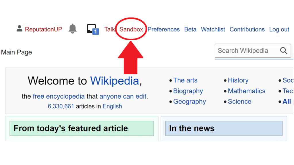 How to create content on Wikipedia guie sandbox ReputationUP
