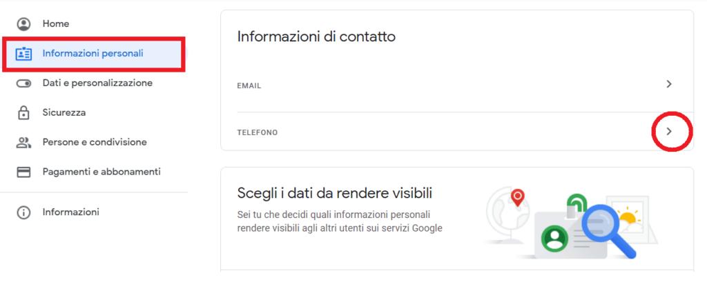eliminare info personali google account reputationup