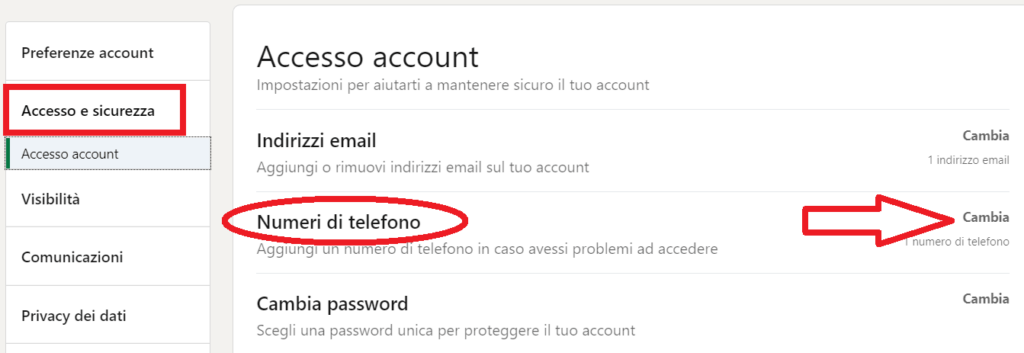 eliminare info personali numero telefono linkedin reputationup