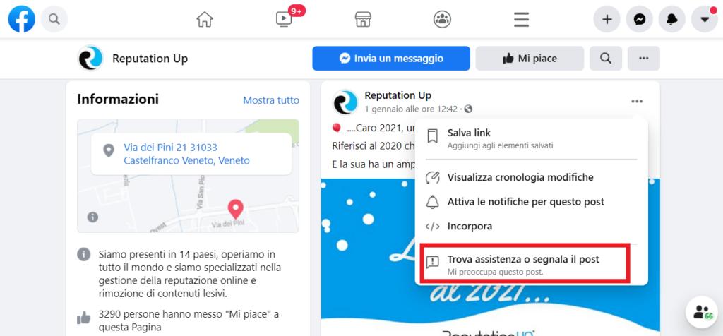 pagina facebook reputationup