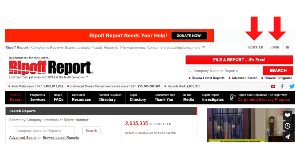 How does Ripoff Report work ReputationUP